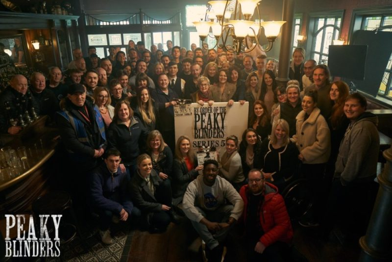 The cast and crew of Peaky Blinders series 5 wrap up filming