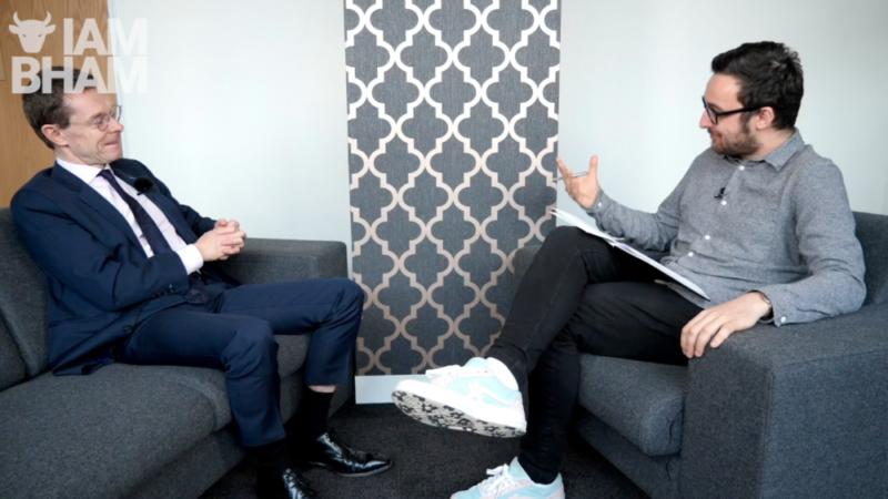 Journalist Paul Stringer interviews WM Mayor Andy Street