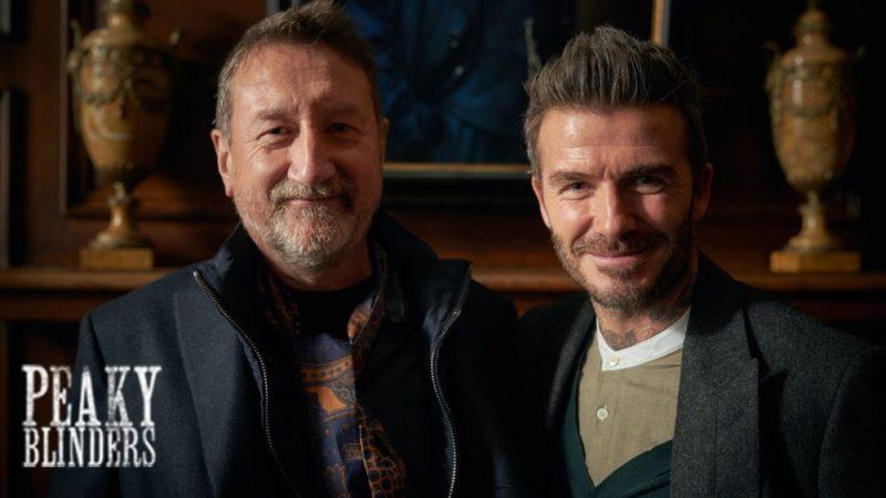 David Beckham visits the set of Peaky Blinders series 5