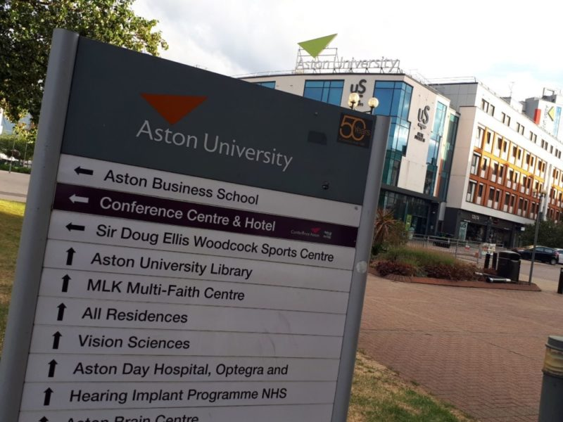 A man was stabbed outside Aston University in Birmingham this week