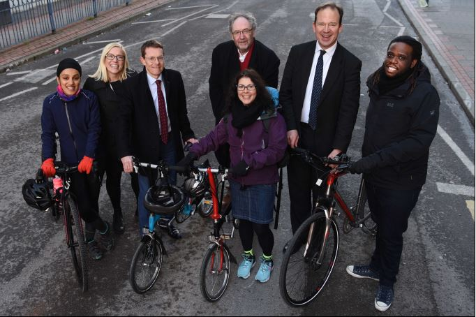 The Department for Transport is supporting new safe cycle routes through the Transforming Cities Fund