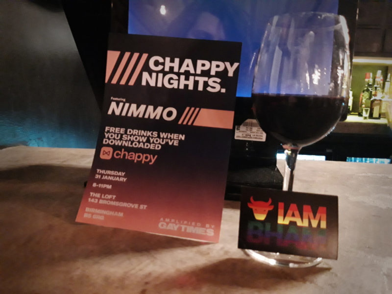 Chappy Nights, amplified by Gay Times, in Birmingham