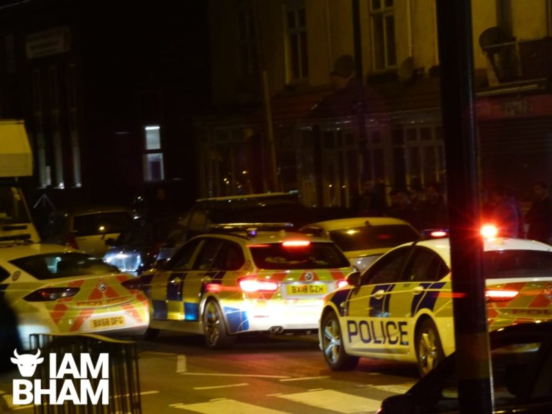 West Midlands Police officers are searching for a car following a chase in Bordesley Green