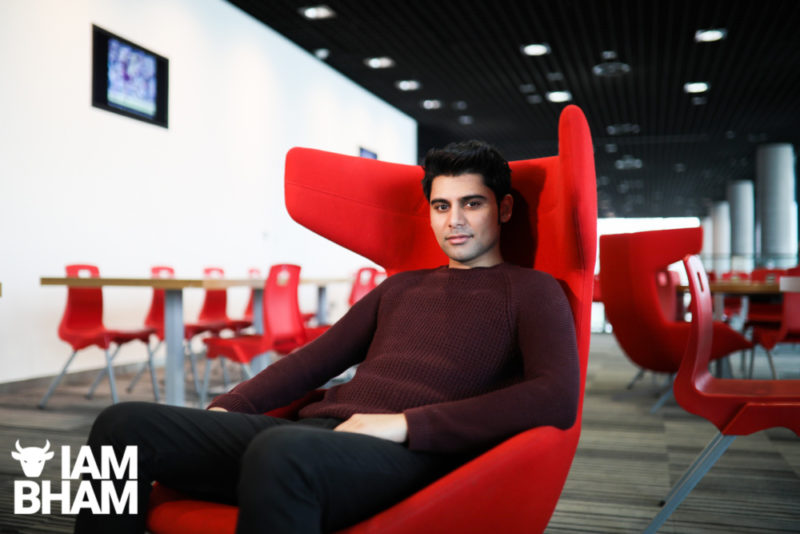 Wolverhampton-born Actor Antonio Aakeel photographed at the Library of Birmingham on Friday 22nd March 2019, ahead of the release of his new British national feature film 'Eaten By Lions'. Photograph: Denise Maxwell/Lensi Photography.