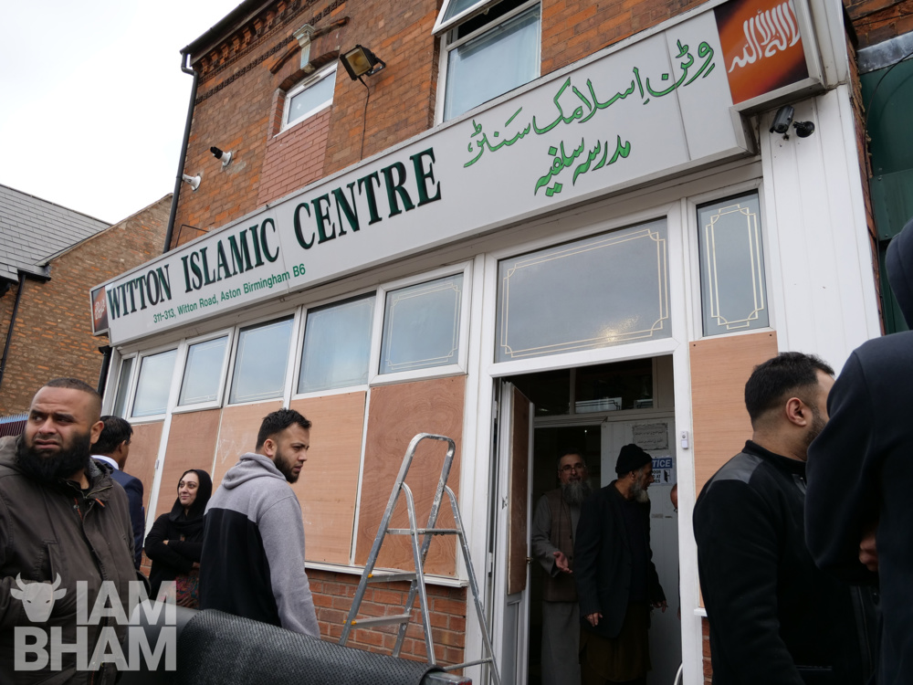 Witton Road Islamic Centre in Aston is one of four mosques attacked overnight in Birmingham