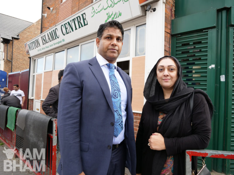 Councillor Majid Mahmood (left) was one of the first on the scene of the mosque attack as he arrived for early morning prayers. Aston ward councillor Nagina Kauser (right) has urged for greater police security following the attack.