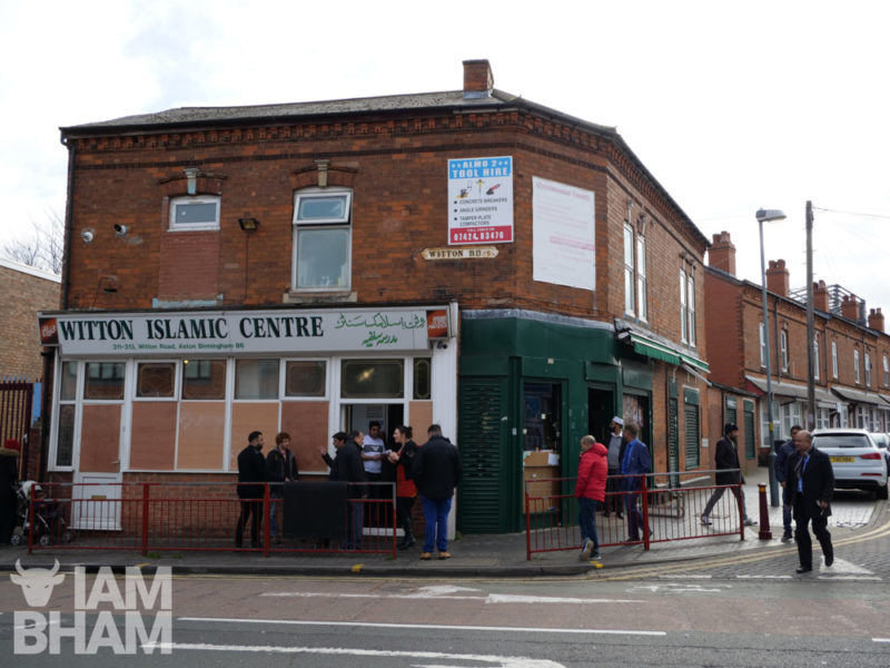 The Witton Road Islamic Centre following the overnight mosque attacks