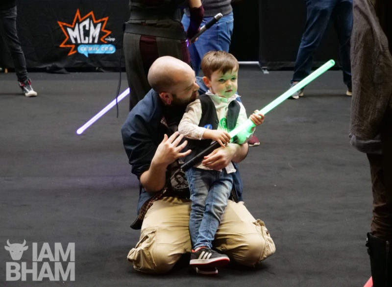 Kids learning the way of the Jedi at MCM Comic Con in Birmingham