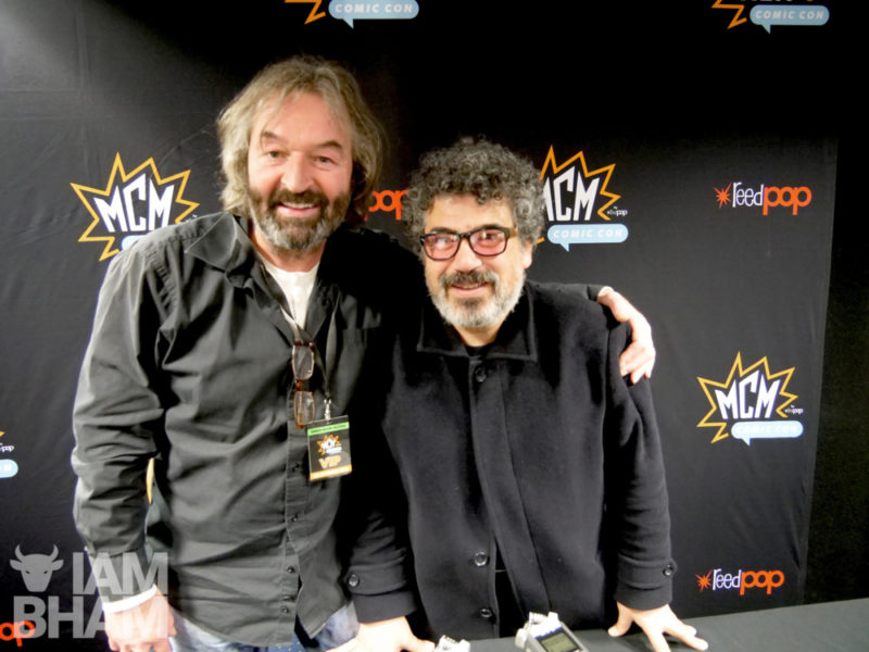 Actors Ian Beattie (left) and Miltos Yerolemou discuss Game of Thrones at MCM Comic Con in Birmingham