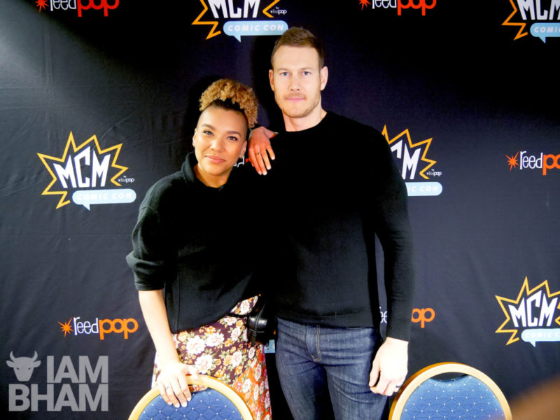 Umbrella Academy stars Tom Hopper and Emmy Raver-Lampman at Comic Con Birmingham