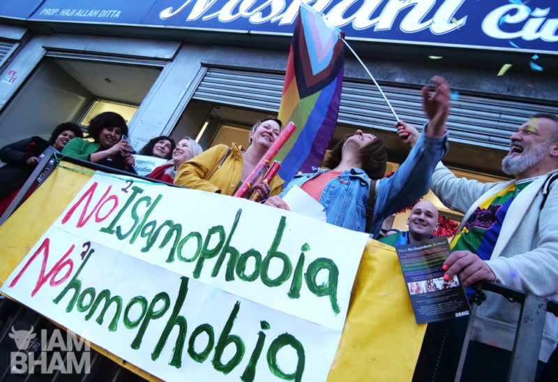 Solidarity in Birmingham between individuals who identify as LGBT+, Muslims, and LGBT+ Muslims