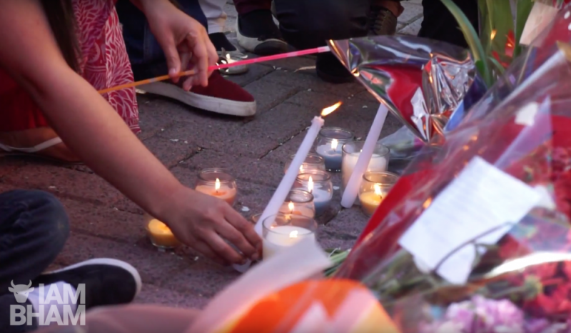 A candle-lit vigil held in Small Heath, Birmingham, following the racist murder of pensioner Mohammed Saleem