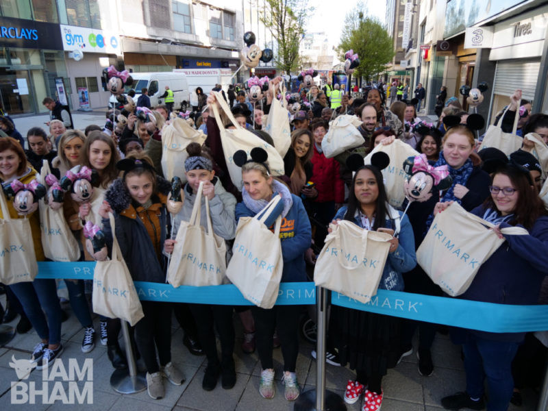 Hundreds of people queued in the early morning cold to be first to enter the new Primark
