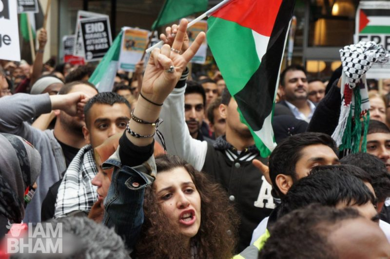 Palestine march and demonstration in central London on 11th July 2014, photo by Adam Yosef