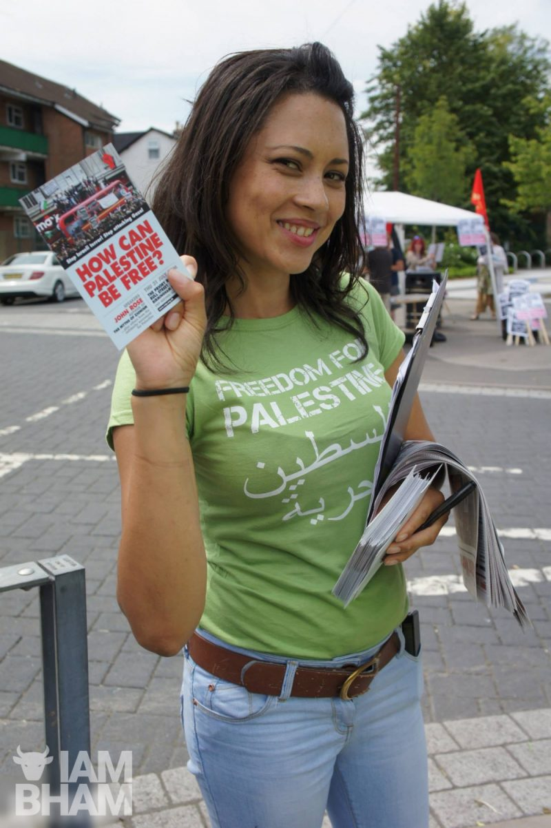 Palestine march and demonstration in Birmingham on 26th July 2014, photo by Adam Yosef
