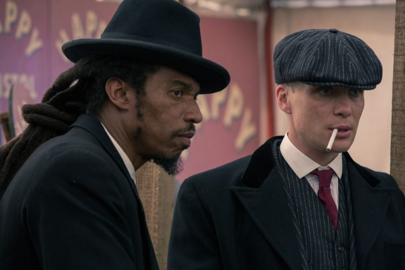 Benjamin Zephaniah alongside Cillian Murphy in hit drama Peaky Blinders