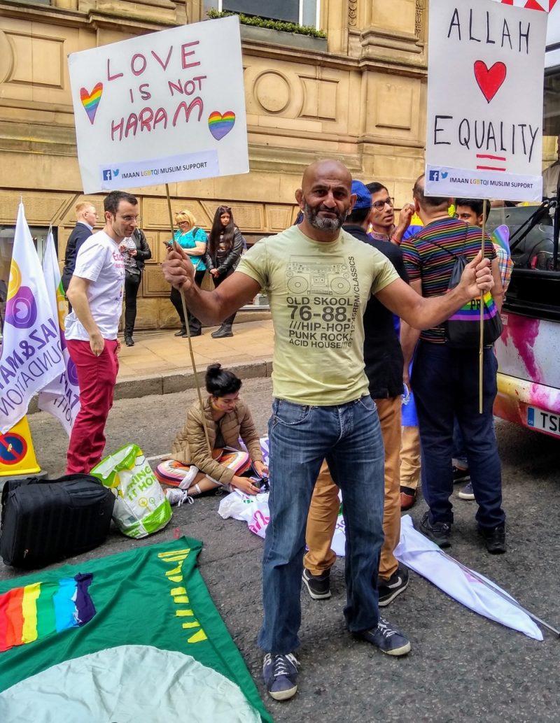 Salman Mirza shows solidarity for LGBTQ+ Muslims at Birmingham Pride 2019 on 25.05.19
