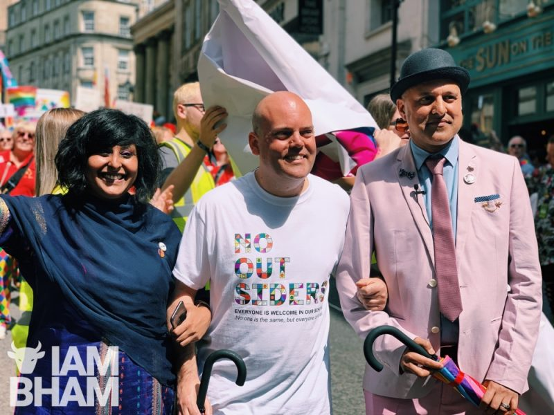 Andrew Moffat lead this year's parade alongside Khakan Qureshi and Saima Razzaq