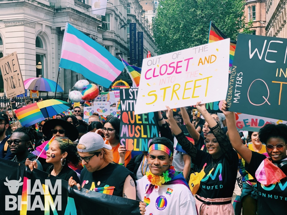 Queer Muslim groups donned signs and rainbows galore in support of Andrew Moffat
