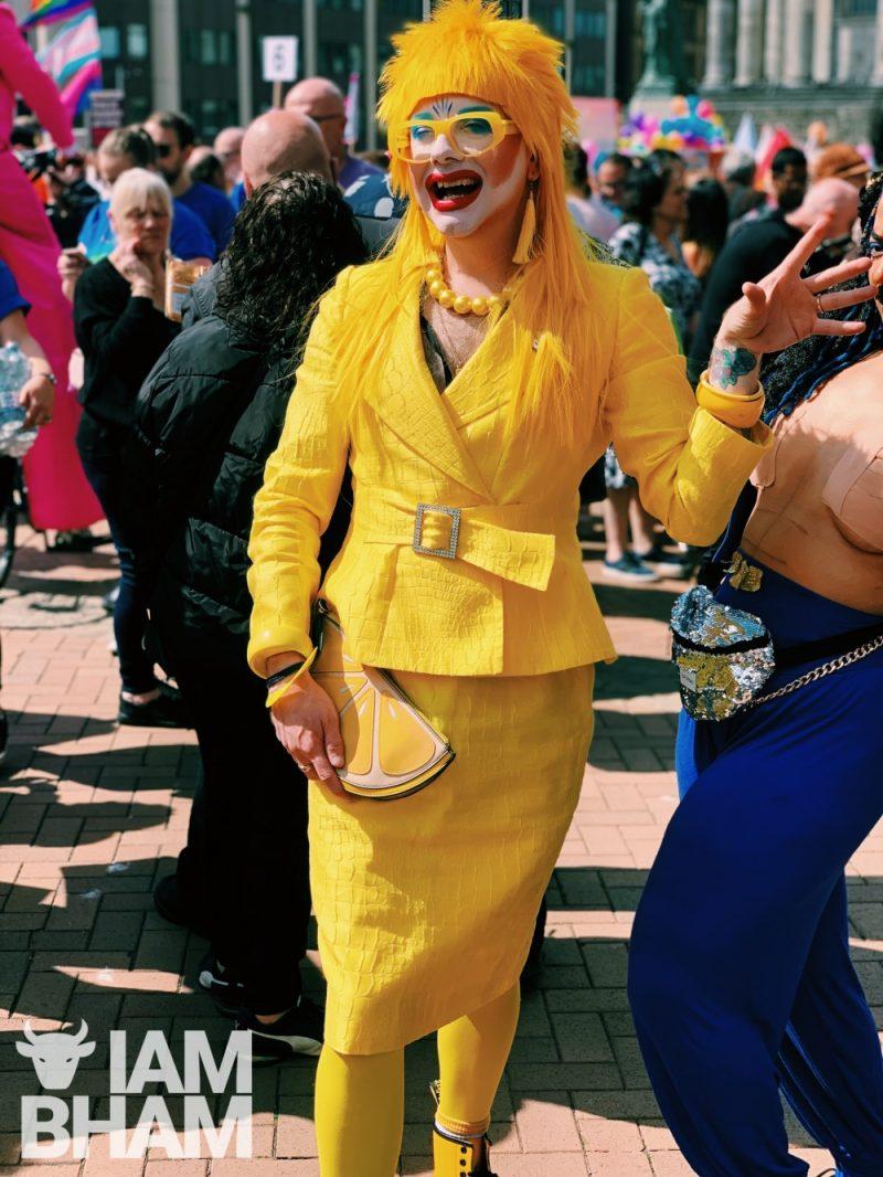 Drag artist Ginny Lemon at Birmingham Pride 2019