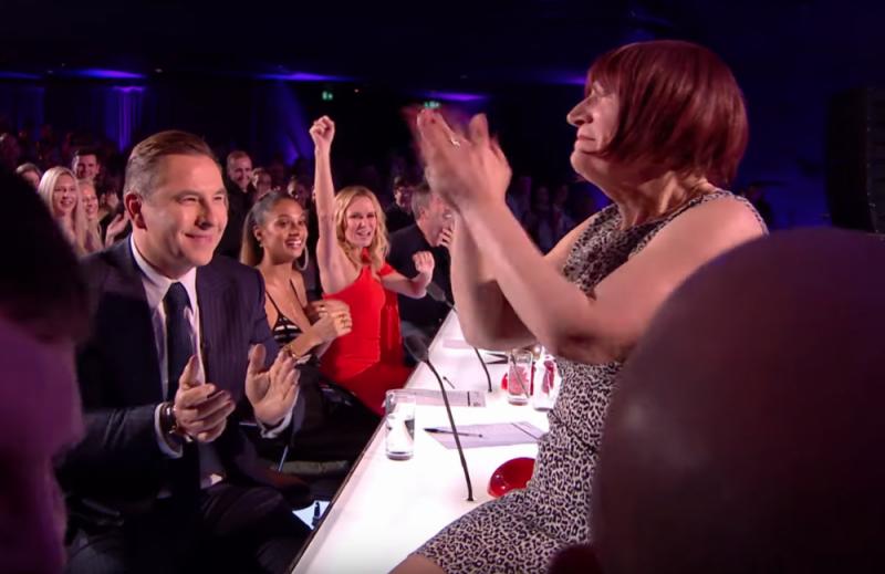 Janice Connolly's 'Barbara Nice' character keeps David Walliams, Alesha Dixon, Amanda Holden and Simon Cowell amused on Britain's Got Talent