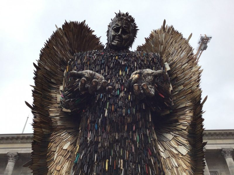 The Knife Angel is in Birmingham until June 5