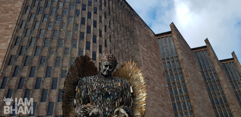 The Knife Angel was previously on display in Coventry