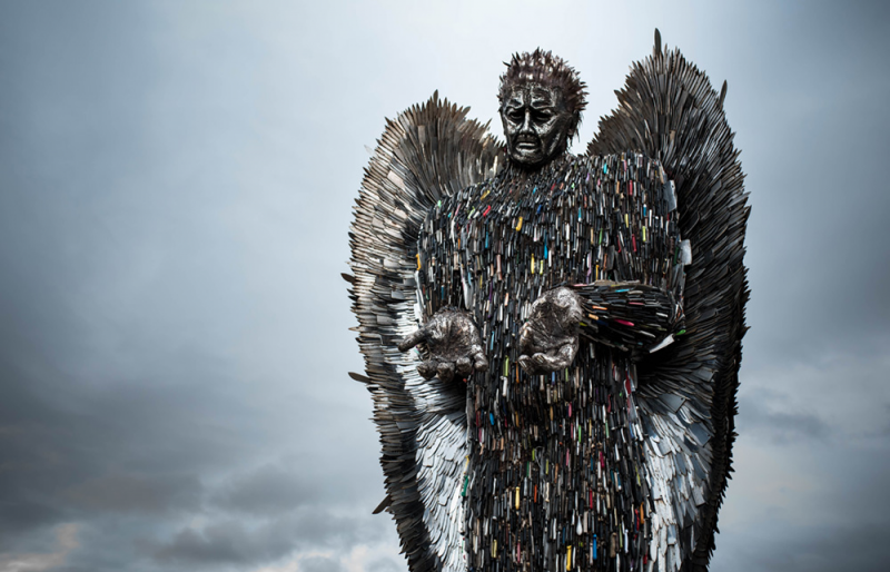 The Knife Angel is a national monument, created by the British Ironwork Centre