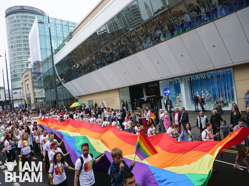 The Birmingham Pride parade will make its way through the city centre streets this Saturday