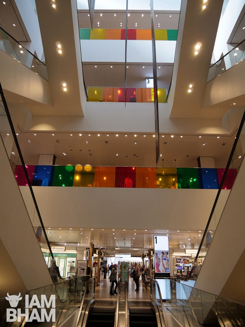 The John Lewis department store in Grand Central taking part in Birmingham Pride 2019 celebrations