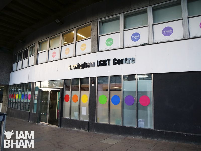 Gay Village venues, clubs and bars: Birmingham LGBT Centre in Holloway Circus in Birmingham city centre on 22.05.19