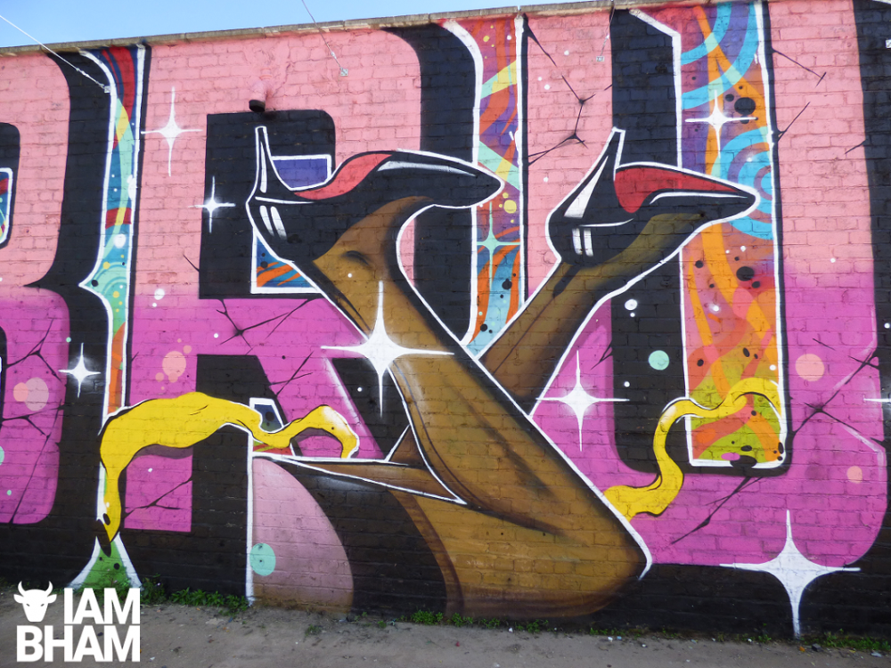 Saucy head-turning mural appears in Southside ahead of Birmingham Pride weekend