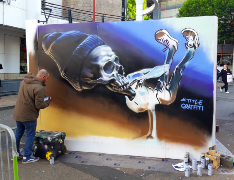 Live street art is a staple at the B-Side Hip Hop Festival in Birmingham