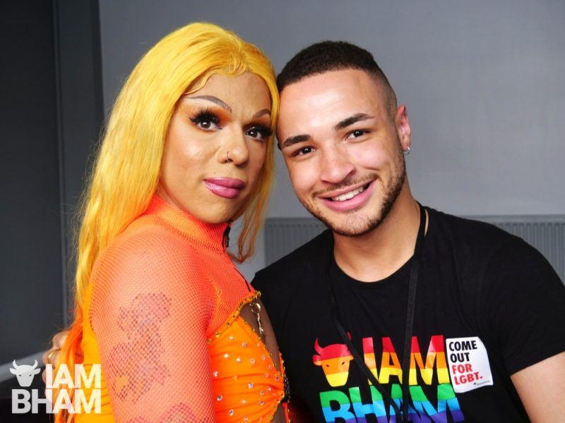 Aja with I Am Birmingham reporter Joshua Williams at Birmingham Pride 2019