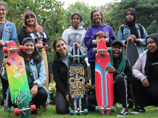 The all-female longboarding group aiming to get more Birmingham women of colour into adventure sports