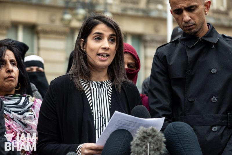 Mother-of-two Rosina Afsar is one of the parents from Anderton Park School and sister to protest organiser Shakeel Afsar