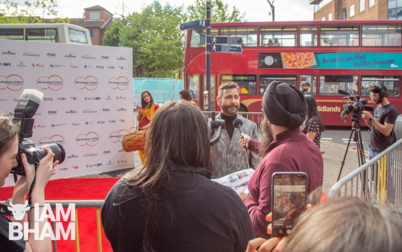The founder of Birmingham's and London's Indian Film Festival ,Cary Sawhney, officially opened the festival at Cineworld Broad Street
