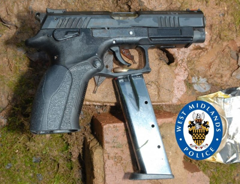 The gun and magazine recovered from the quarry