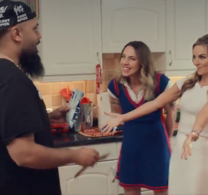Guz Khan with the Spice Girls in the new fun advert promoting their current tour