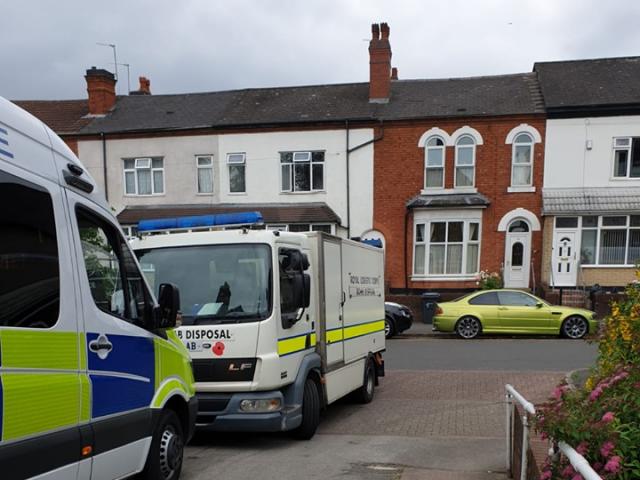 Bomb disposal unit descends on Small Heath house in Birmingham