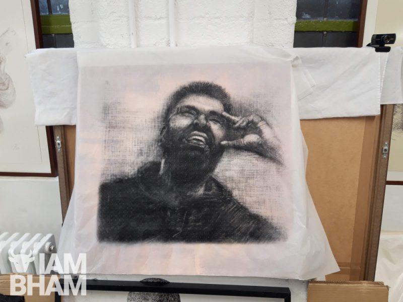 A portrait of Mohammed 'Aerosol Arabic' Ali at his studio