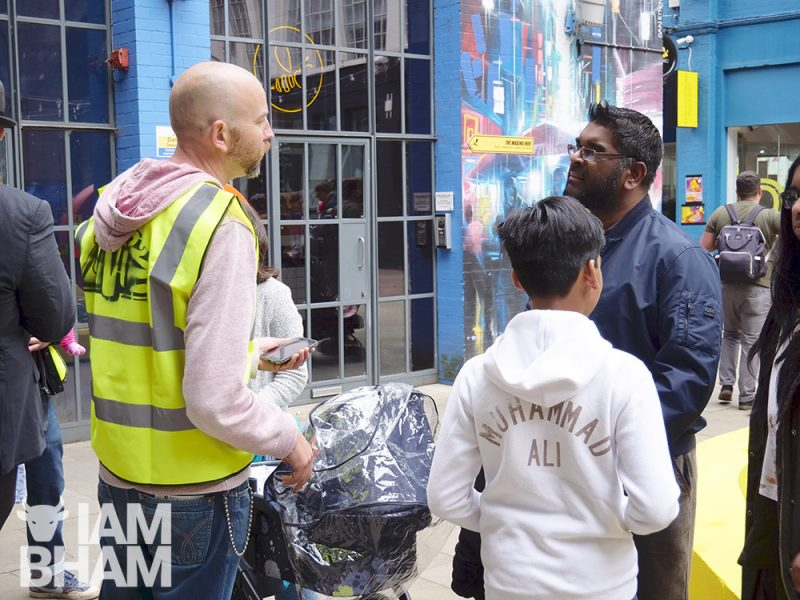 Olly MacNamee chats to  Mohammed Ali at last year's Hi Vis Festival in Birmingham