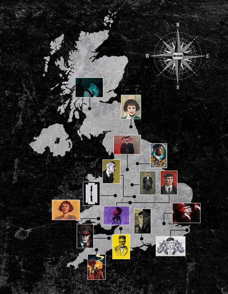 BBC Peaky Blinders Series 5 fan art UK MAP