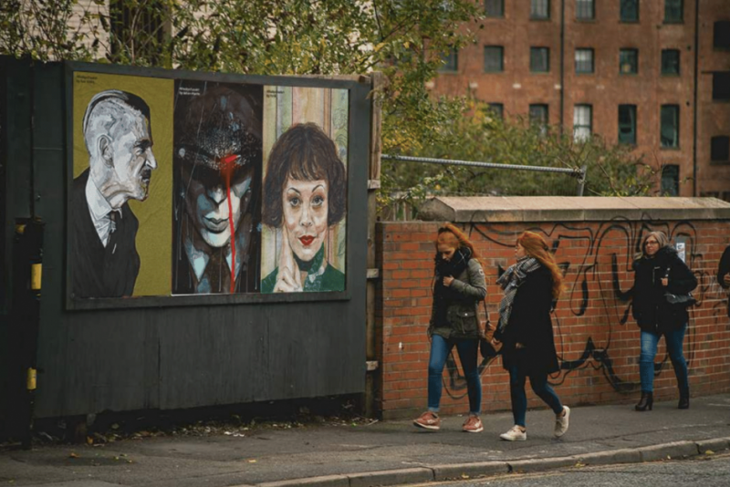 BBC Peaky Blinders fan art in Birmingham by BBC