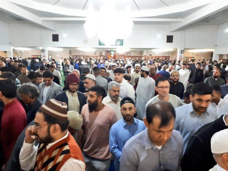 Birmingham Central Mosque during Eid prayer services last year