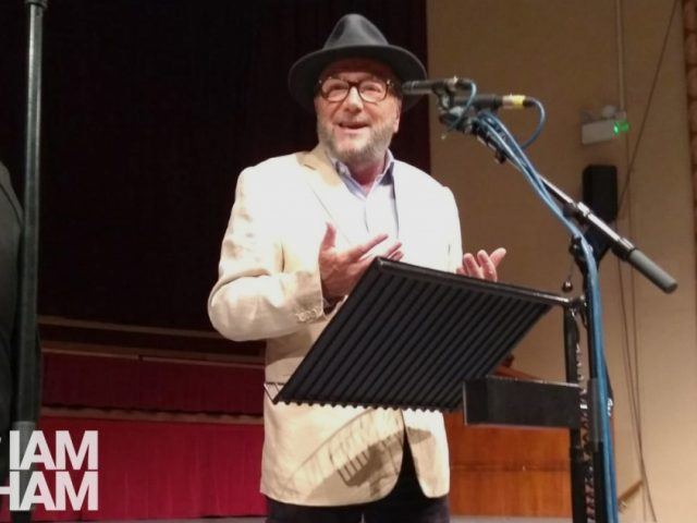 George Galloway had a public meeting in Dudley to launch his campaign to oust West Bromwich MP Tom Watson