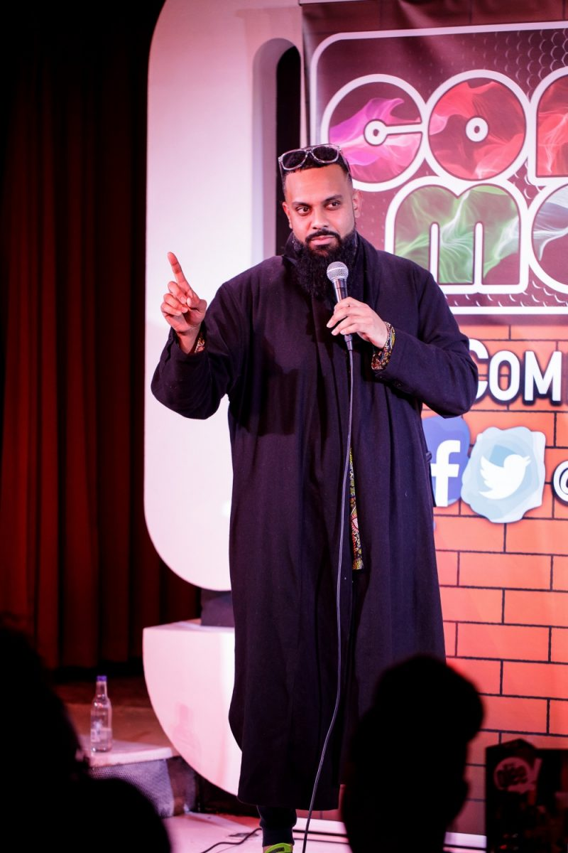 Coventry comedian Guz Khan performing at The Glee Club