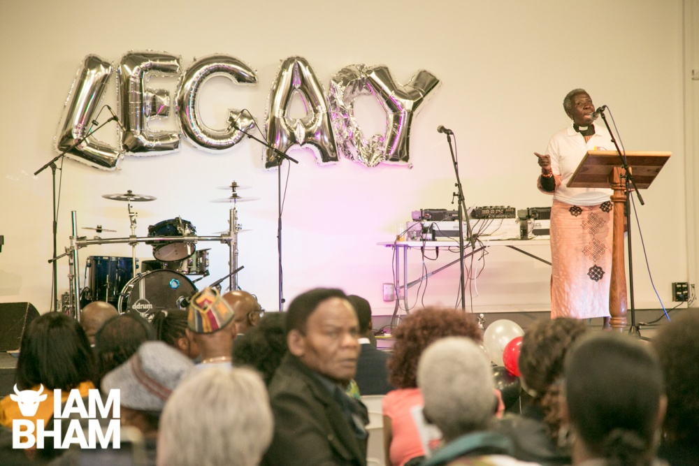 Reverend Eve Pitts of Holy Trinity Church speaking at the Legacy Centre for Excellence in Birmingham