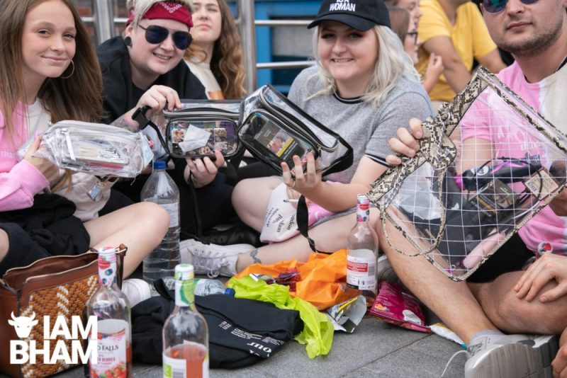 Transparent clear bags at the Ariana Grande concert show in Birmingham on 14th September 2019