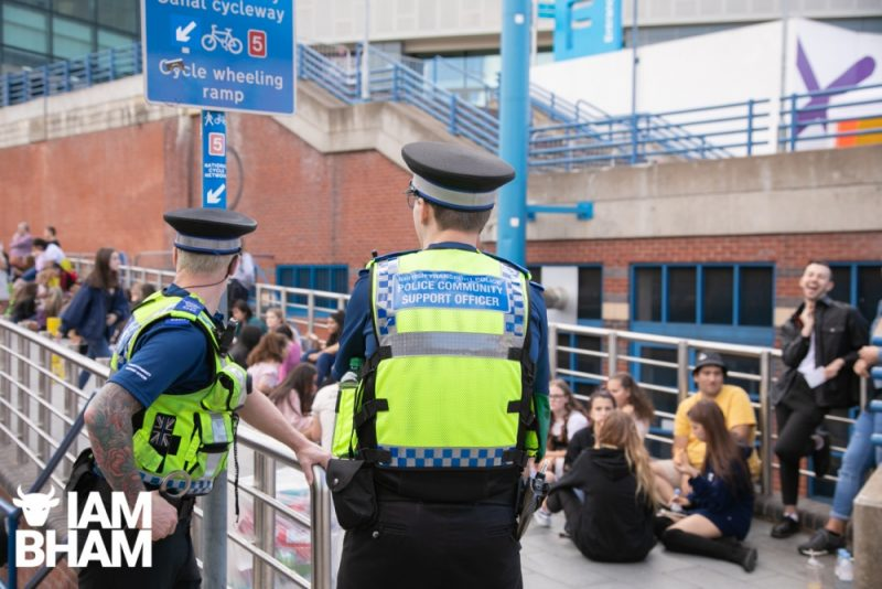 West Midlands Police offciers at an Ariana Grande concert at Arena Birmingham